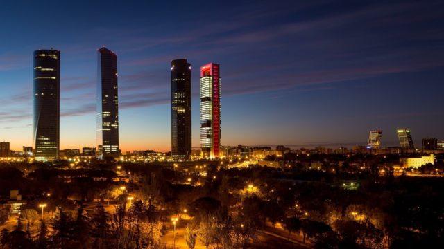 contaminación lumínica - Madrid