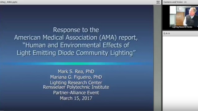 webinario, Lighting Research Center, American Medical Association, LED, lighting