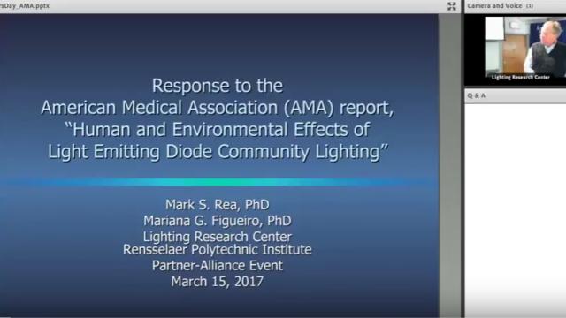 webinario, Lighting Research Center, American Medical Association, LED, lighting