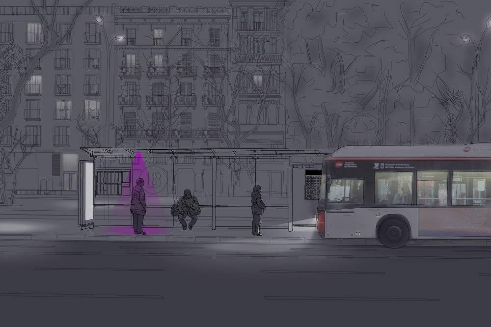 Bus Lights; de Milena Rosés Lloret, estudiante en IED Barcelona, España