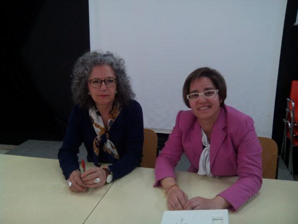 Isabel García Marín, técnico de sostenibilidad del Ayuntamiento de Leganés y Elena Ruiz, directora técnica de APIEM.