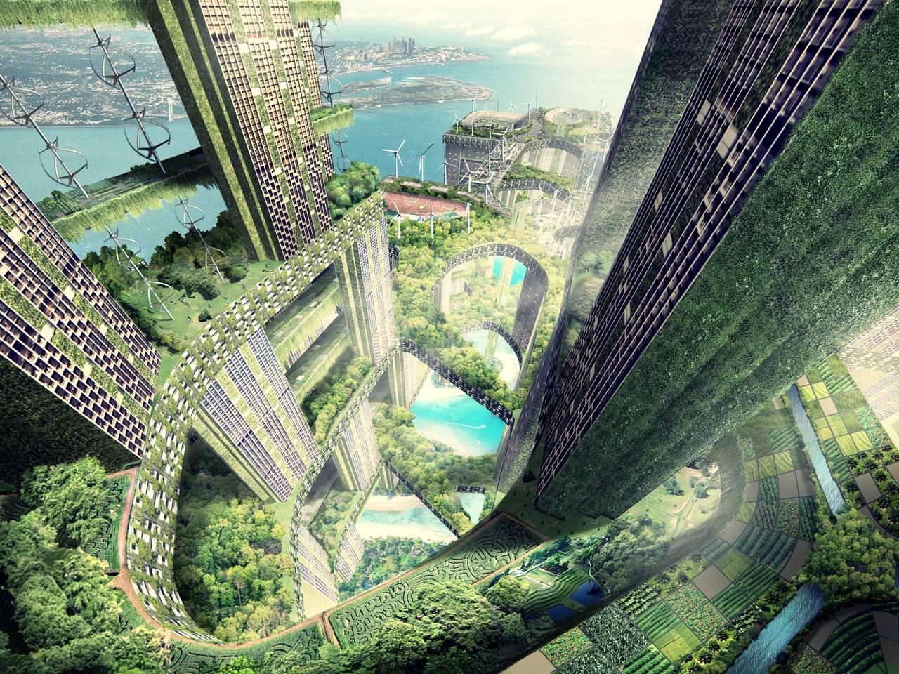 Permeable Lattice City, Singapore (unbuilt) : Photo credit © WOHA