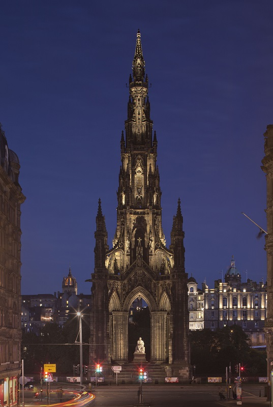 Scott Monument External Lighting_photo by David Barbour