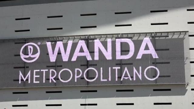 wanda metropolitano - iluminación