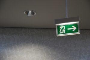 iluminación de emergencia, LED, edificios