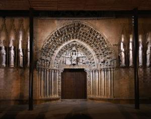 Olite, Iglesia, iluminación,