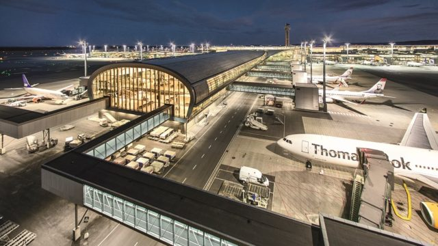 Oslo airport, LED, lighting