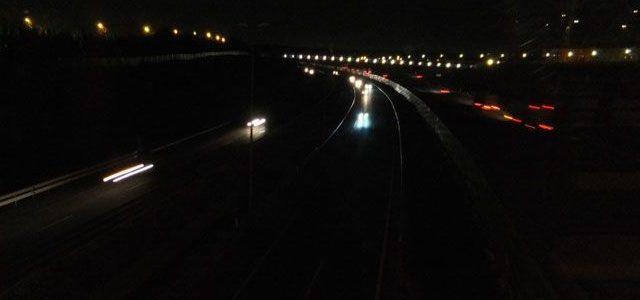 iluminación de las carreteras