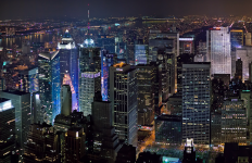alumbrado público, noche, crimen, Nueva York, iluminación, LED