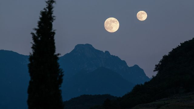 China, Chendgdu, Luna, luna artificial, alumbrado público