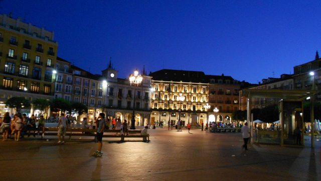 LED, Burgos, iluminación, alumbrado público