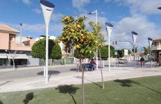farolas fotovoltaicas, Siarq, Molina de Segura, Iluminación Solar, Tulipán