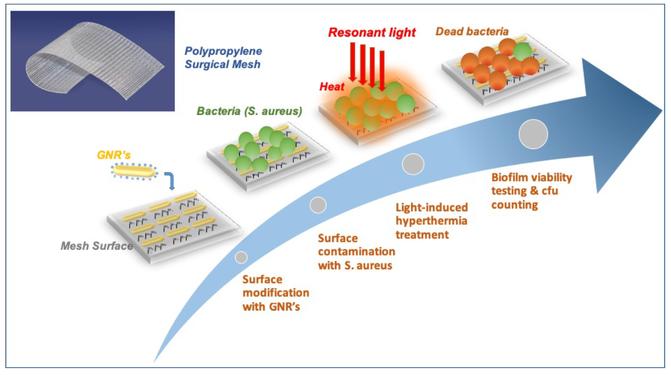 luz, bacterias, nanotecnología