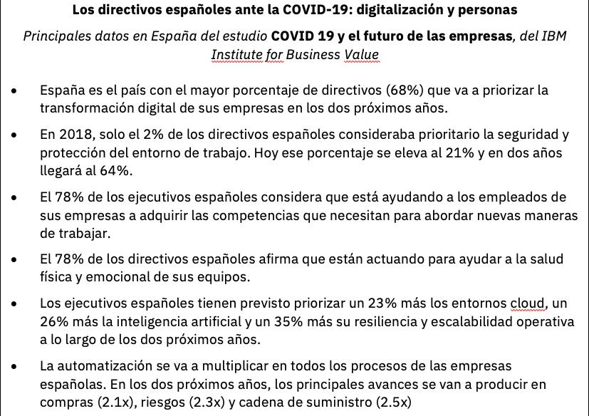 IBM, encuesta, directivos, COVID-19, coronavirus