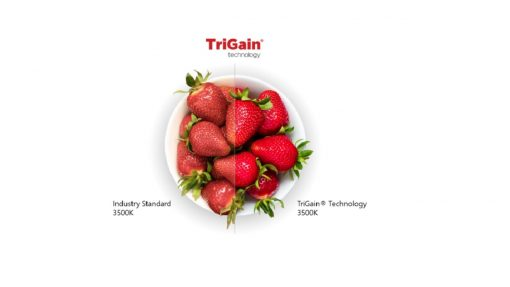 TriGain, GE Current, Nichia, LED, iluminación, fosforos, LED rojo