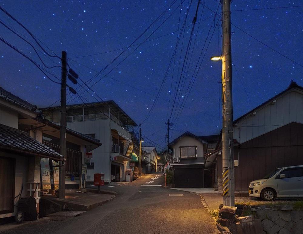 Dark sKY, cielo nocturno, contaminación lumínica, Japón, Panasonic, Bisei
