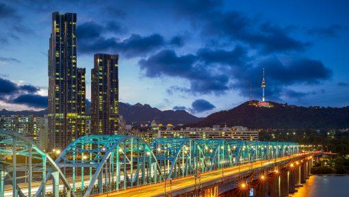 Seúl, postes inteligentes, Smart Pool, iluminación, alumbrado público