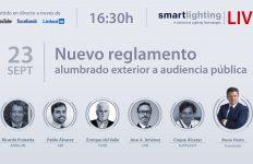 smartlighting LIVE, reglamento alumbrado exterior, iluminación, alumbrado público, ANFALUM, AMI, UNE, SLOWLIGHT, FENIE